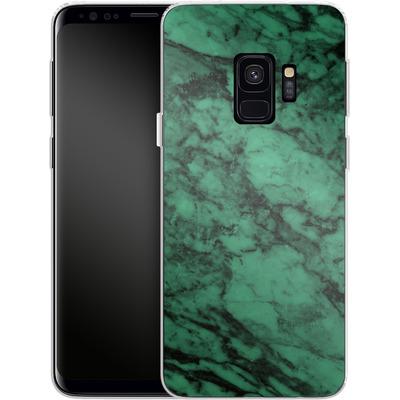 Samsung Galaxy S9 Silikon Handyhuelle - Green Marble von caseable Designs