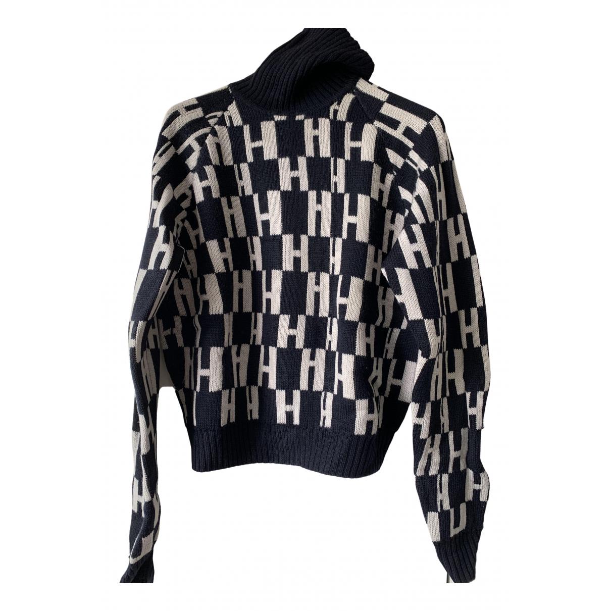 Hermes \N Pullover.Westen.Sweatshirts  in  Schwarz Wolle