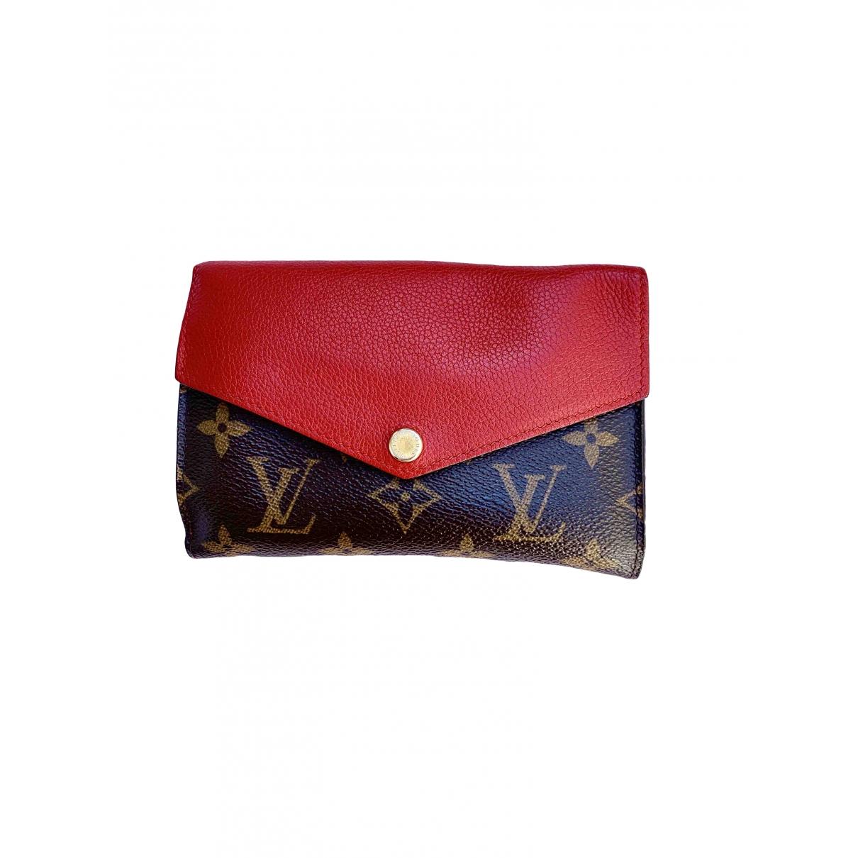 Louis Vuitton \N Portemonnaie in  Rot Leinen