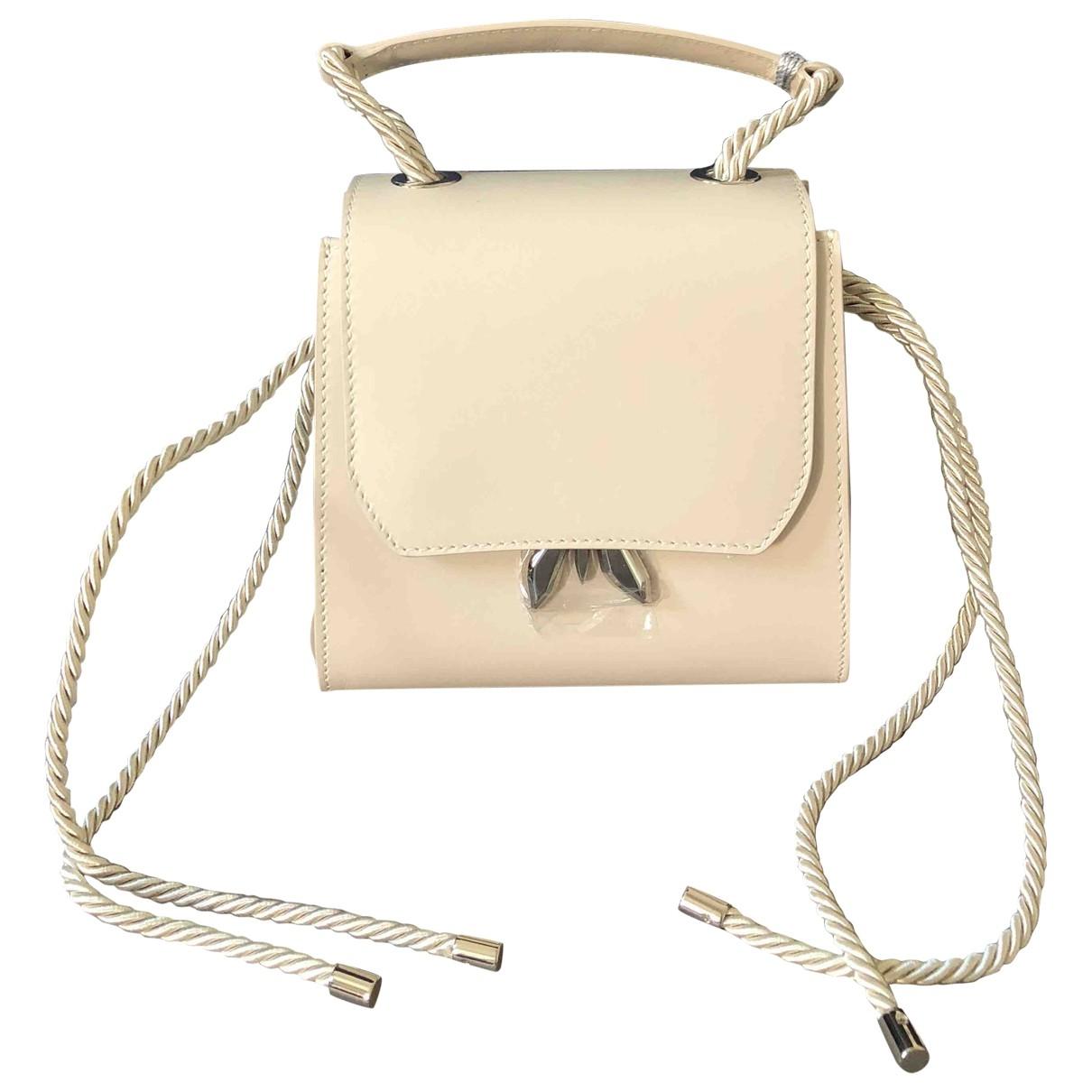 Patrizia Pepe \N Handtasche in  Beige Leder