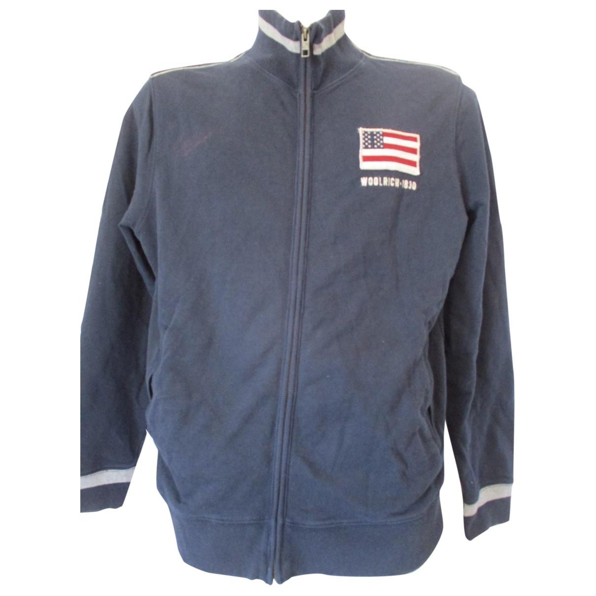 Woolrich \N Pullover.Westen.Sweatshirts  in  Blau Baumwolle