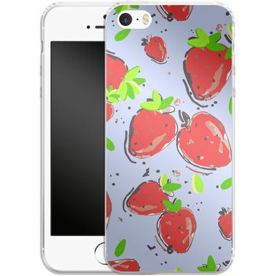 Apple iPhone 5s Silikon Handyhuelle - Strawberry Crush von Mukta Lata Barua
