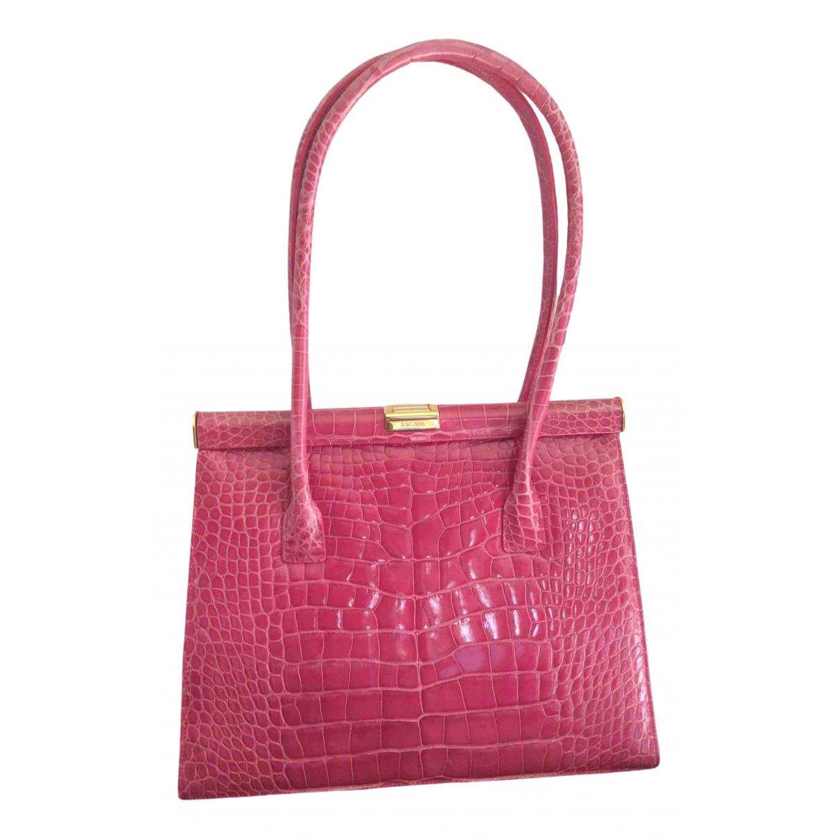 Escada \N Pink Alligator handbag for Women \N