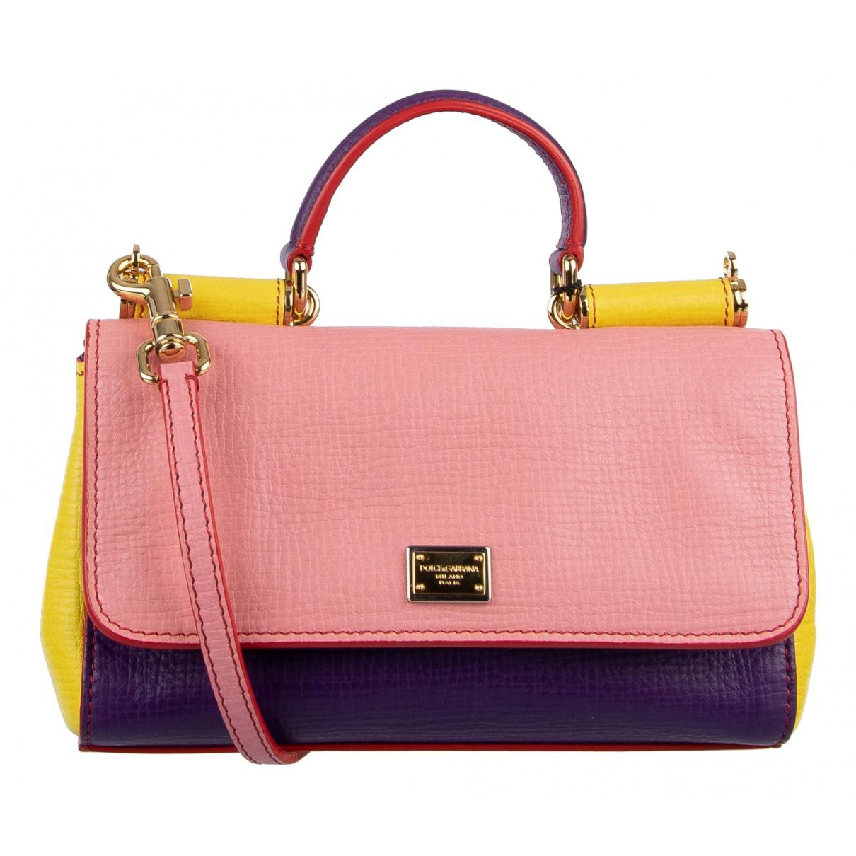 Dolce & Gabbana Sicily Pink Leather handbag for Women \N