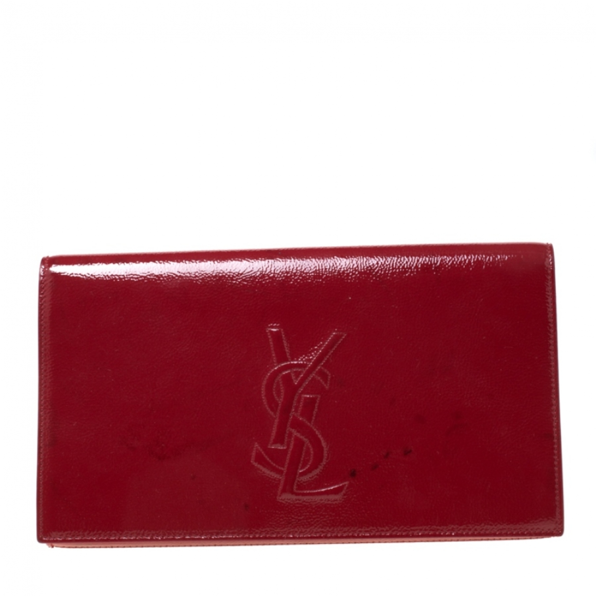 Yves Saint Laurent Belle de Jour Red Patent leather Clutch bag for Women \N
