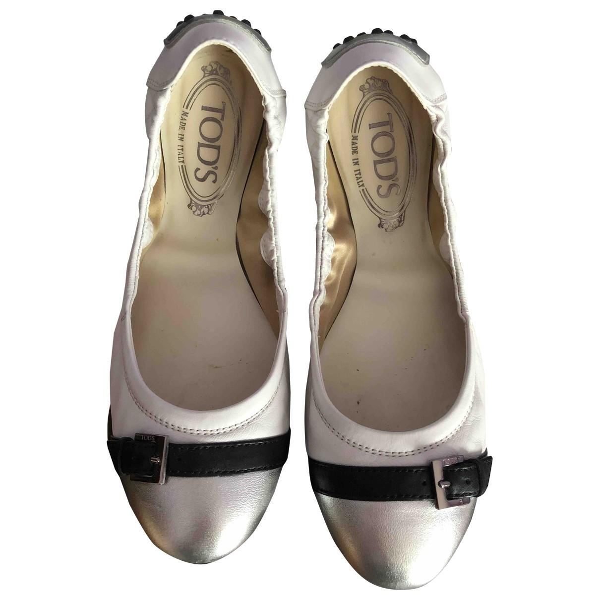 Tods - Ballerines   pour femme en cuir - blanc