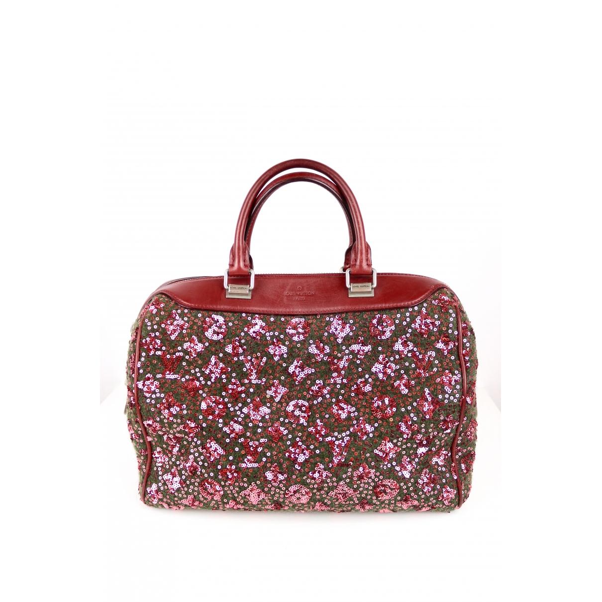 Louis Vuitton - Sac a main Speedy pour femme en a paillettes - bordeaux