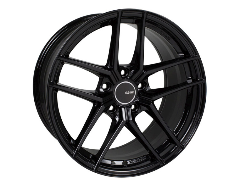 Enkei TY5 Wheel Tuning Series Gloss Black 18x8 5x114.3 40mm