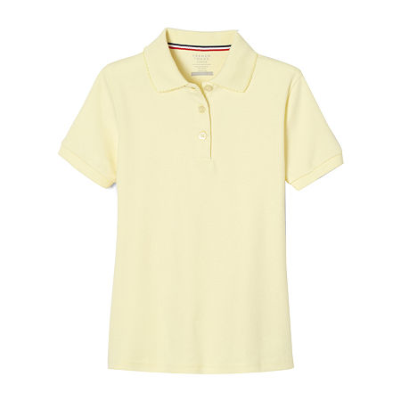 French Toast Toddler Girls Short Sleeve Polo Shirt, 2t , Yellow