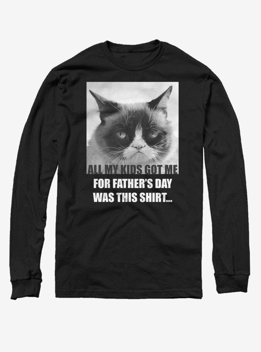 Grumpy Cat Father's Day Shirt Long-Sleeve T-Shirt