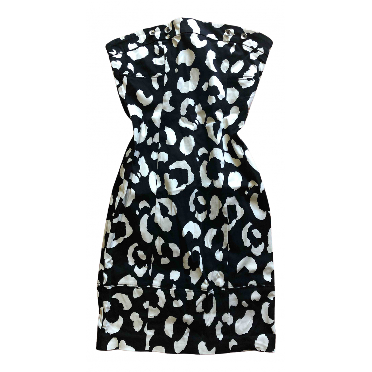 Moschino Cheap And Chic \N Kleid in  Weiss Baumwolle