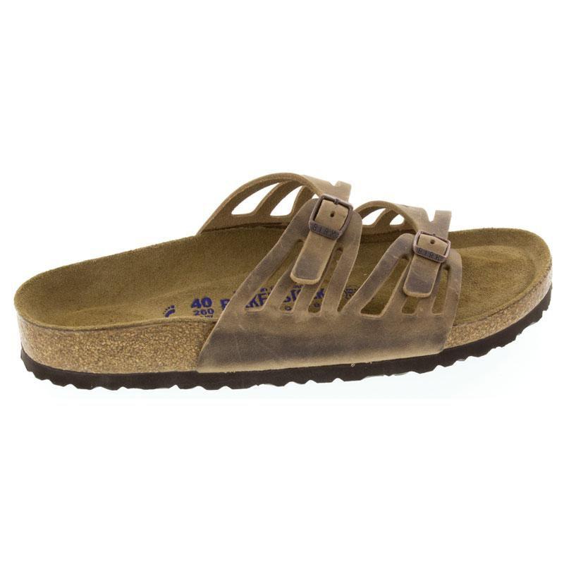 Birkenstock Granada Tobacco Leather Soft Footbed 36 R