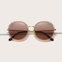 Polarisierte Sonnenbrille mit rundem Rahmen