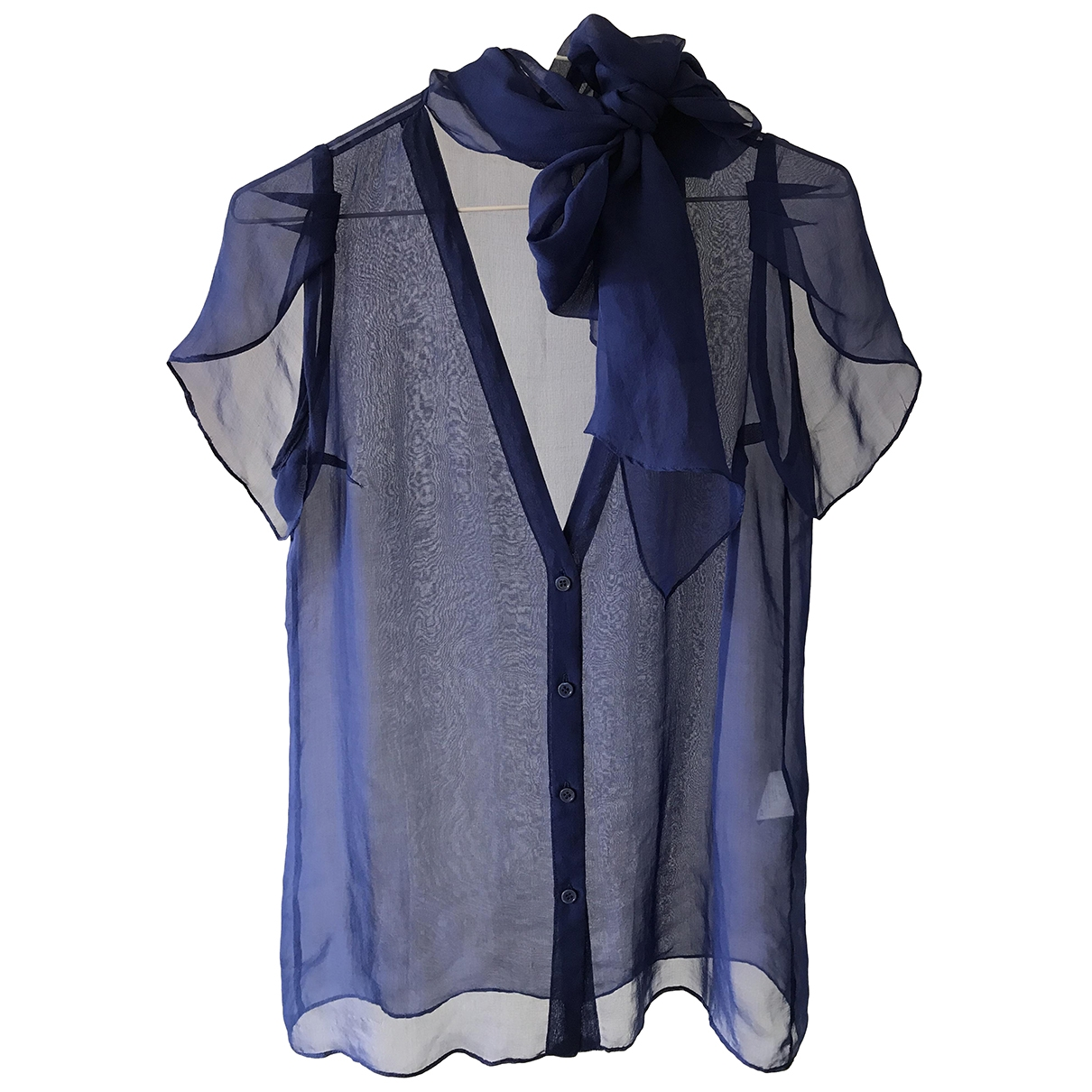 Vanessa Bruno \N Blue Silk  top for Women 36 FR