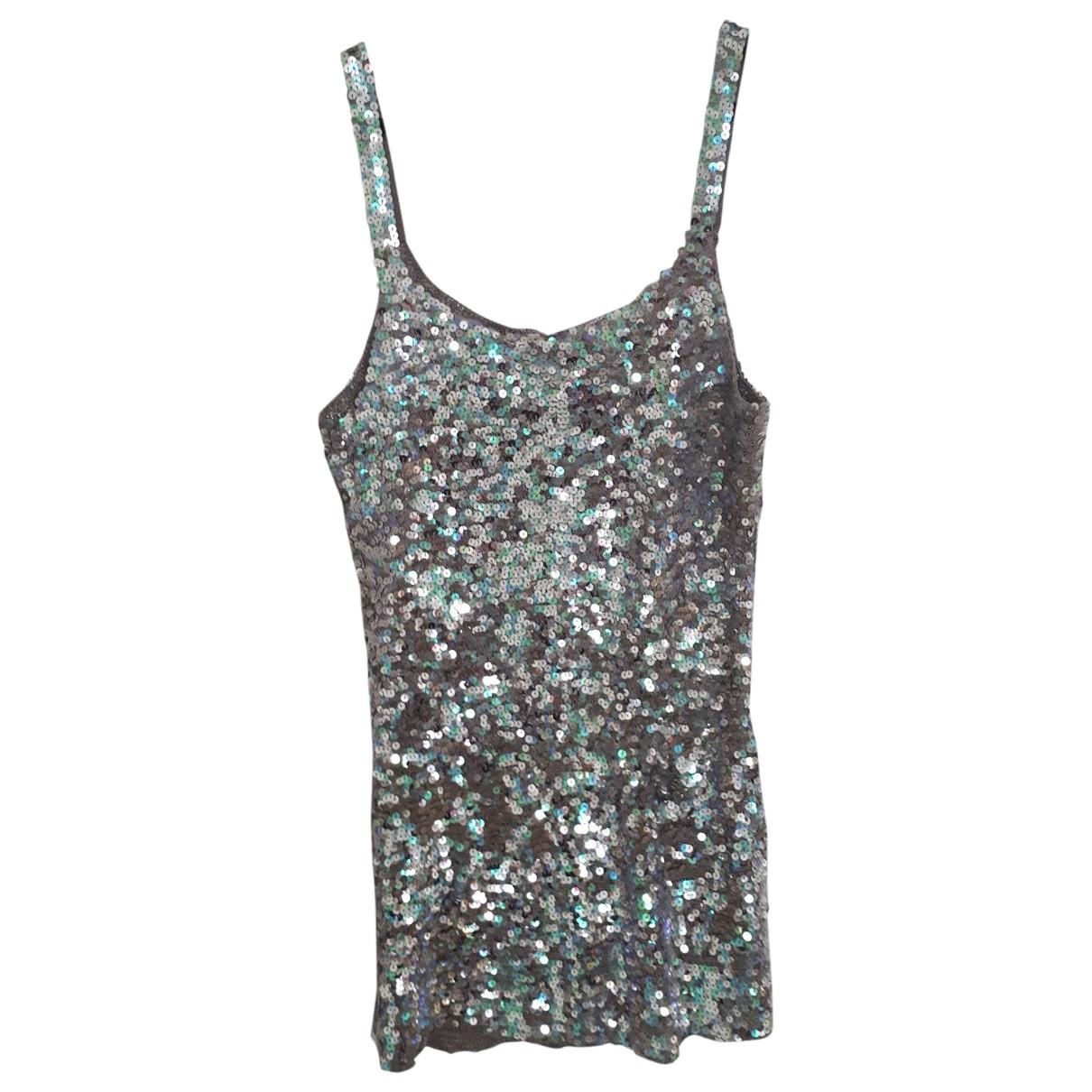 Falconeri \N Kleid in  Silber Mit Pailletten