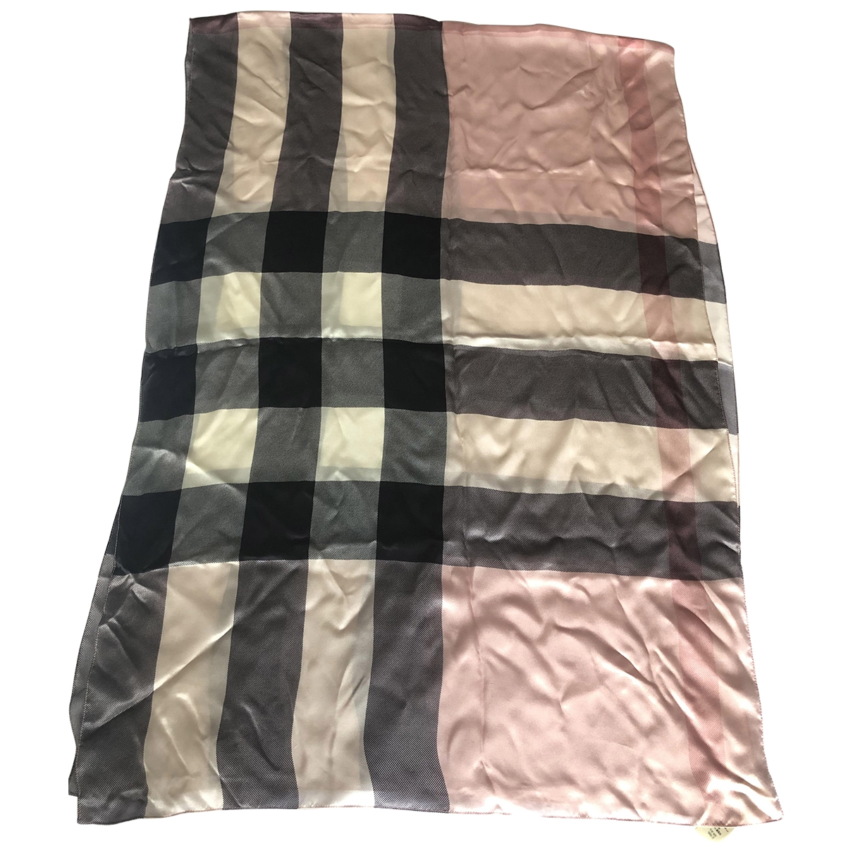 Burberry \N Schal in  Rosa Seide