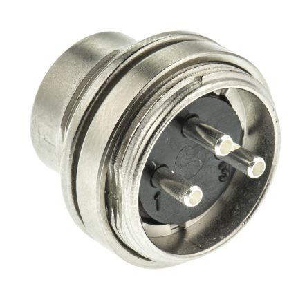 Binder Connector, 3 contacts Panel Mount Miniature Socket, Solder