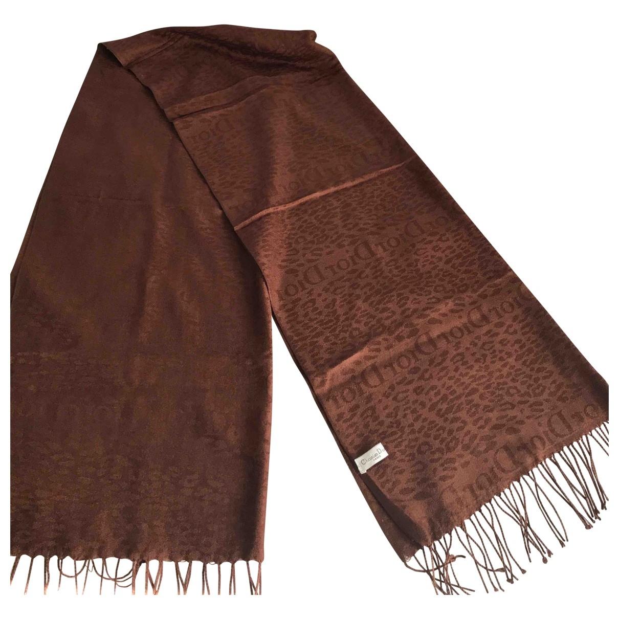 Dior \N Brown Wool scarf for Women \N