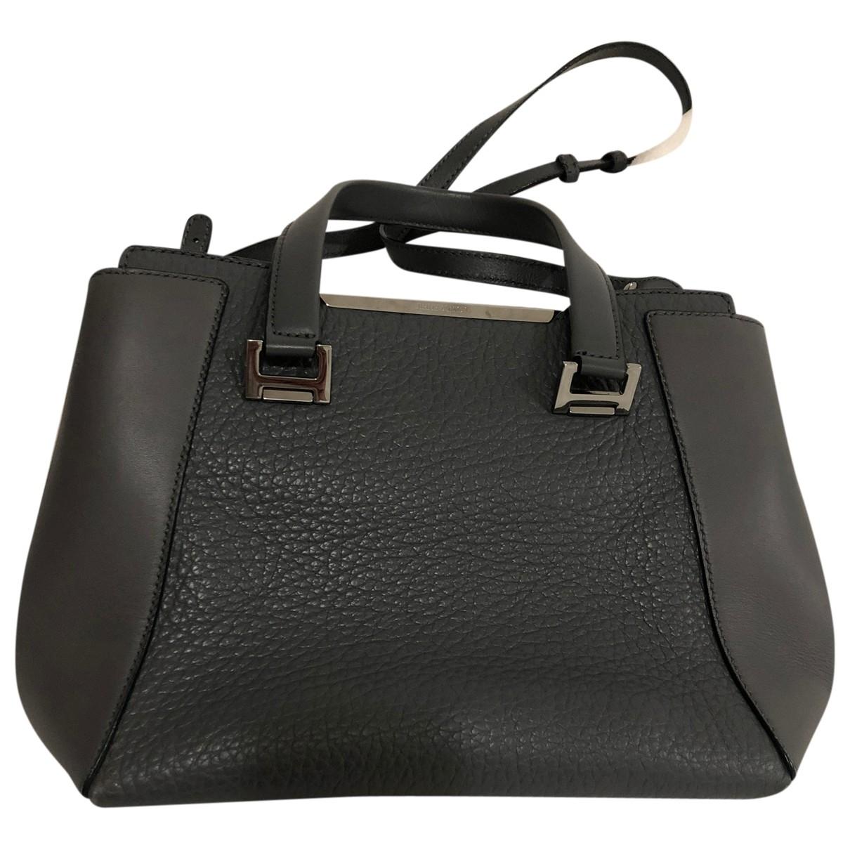 Jimmy Choo \N Handtasche in  Grau Leder