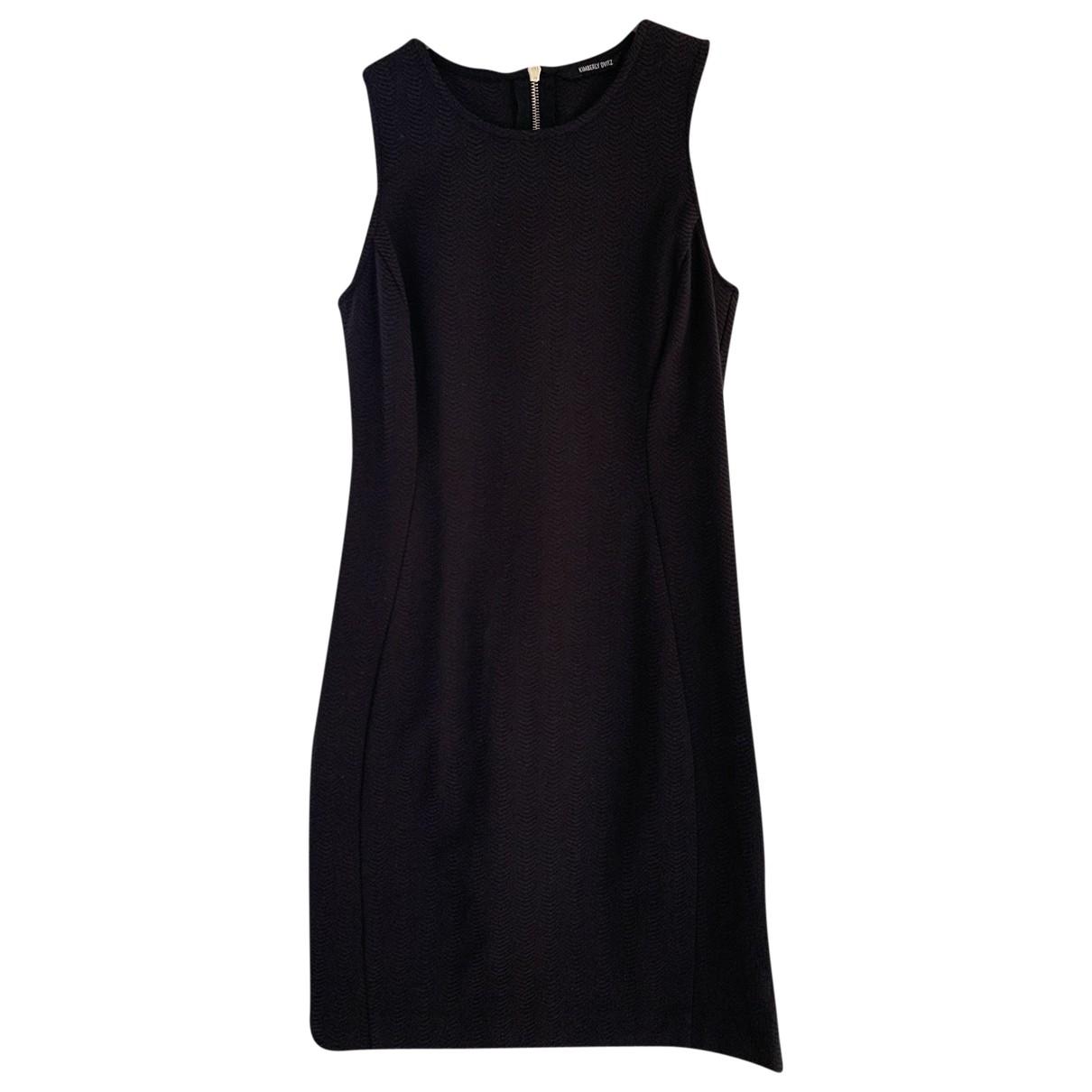 Kimberly Ovitz \N Kleid in  Schwarz Baumwolle