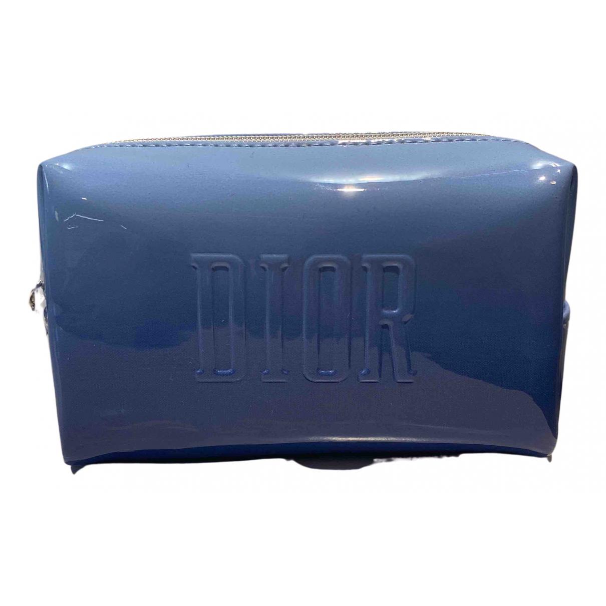 Dior - Sac de voyage D-Fence pour femme en cuir verni - bleu