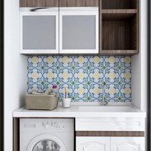 10 hojas pegatina de azulejo con estampado de dibujo