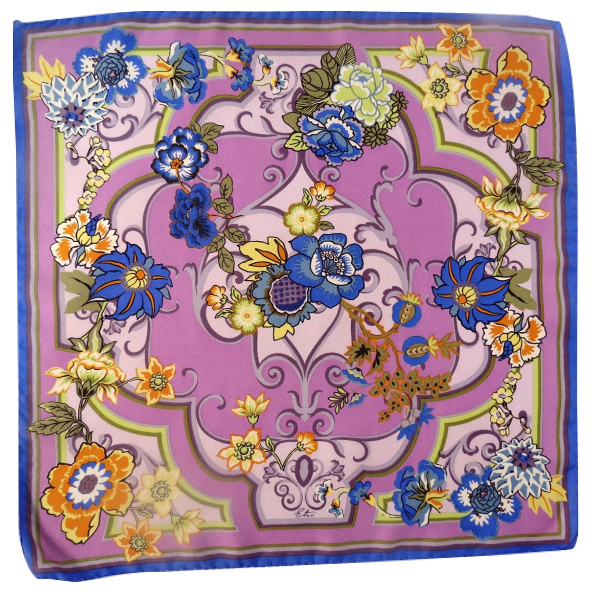 Etro \N Purple Silk Silk handkerchief for Women \N