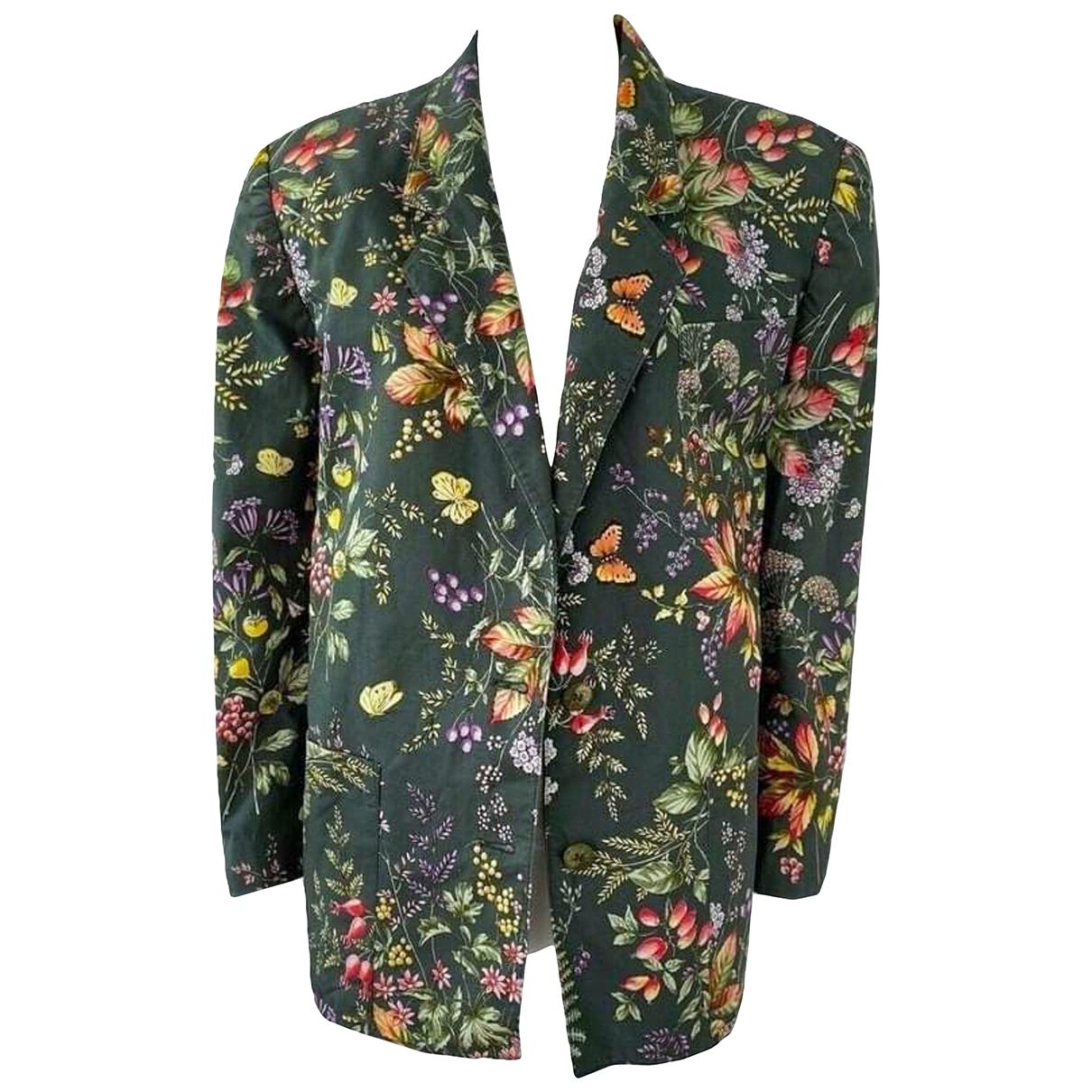 Burberry - Veste   pour femme en coton - vert