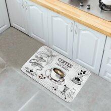 Bodenmatte mit Kaffee Muster