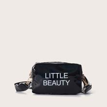 Girls Letter Graphic Crossbody Bag