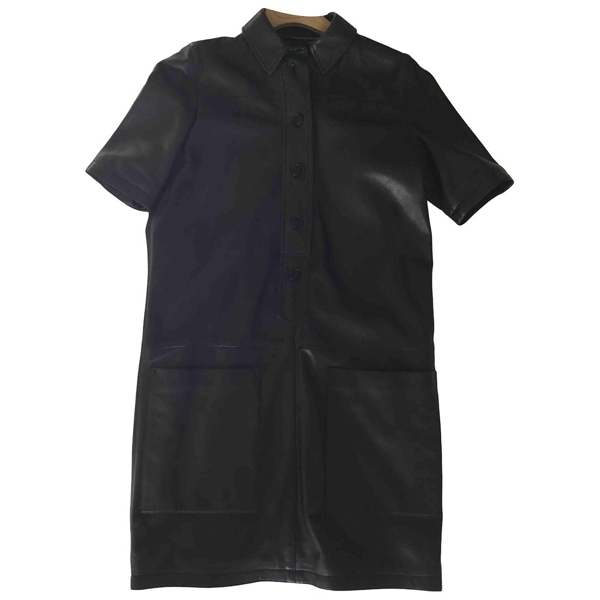 Burberry \N Kleid in  Schwarz Leder