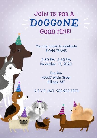 Birthday Party Invites 5x7 Cards, Premium Cardstock 120lb with Elegant Corners, Card & Stationery -Doggone Good Time Birthday Invitation by Hallmark