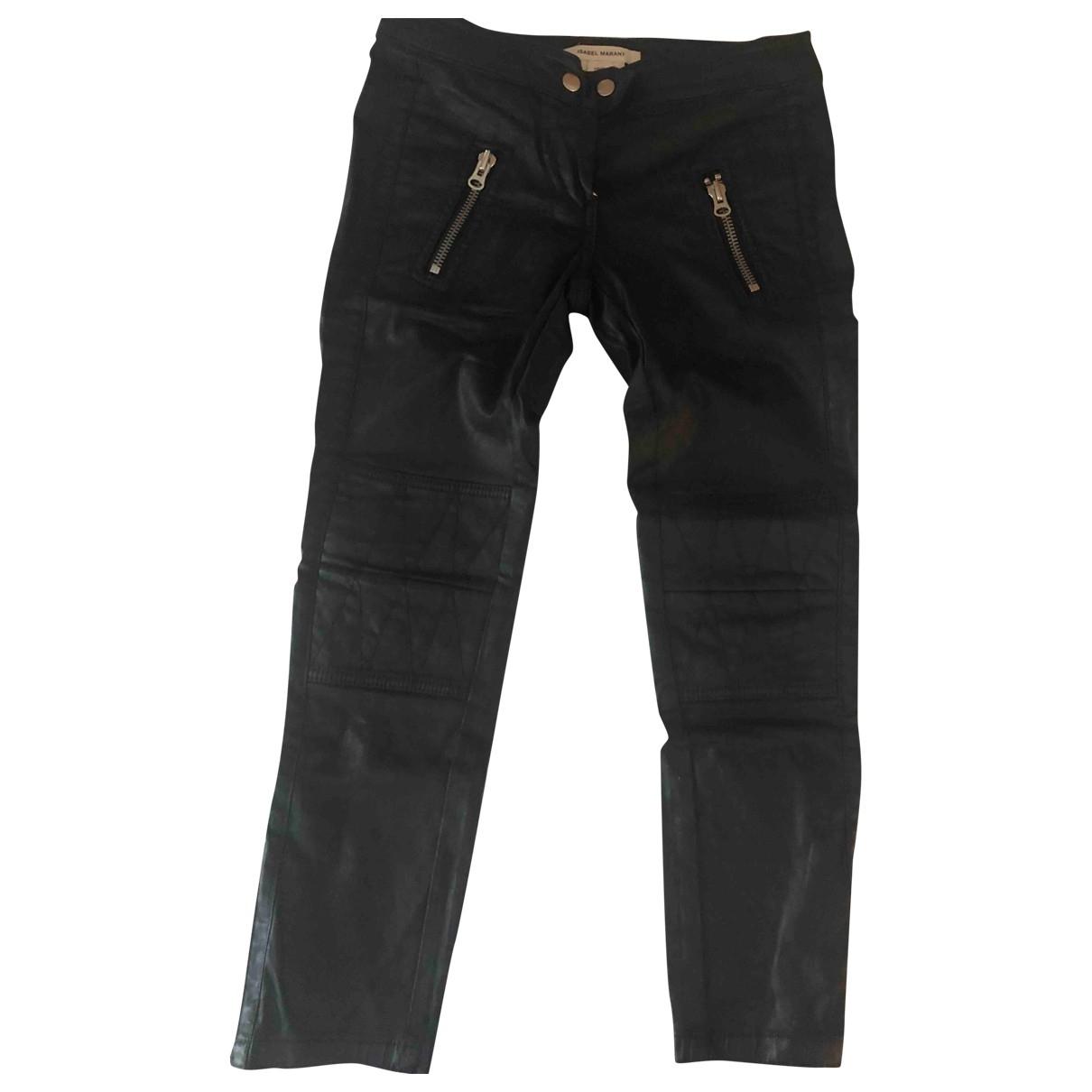 Isabel Marant \N Black Denim - Jeans Trousers for Women XS International