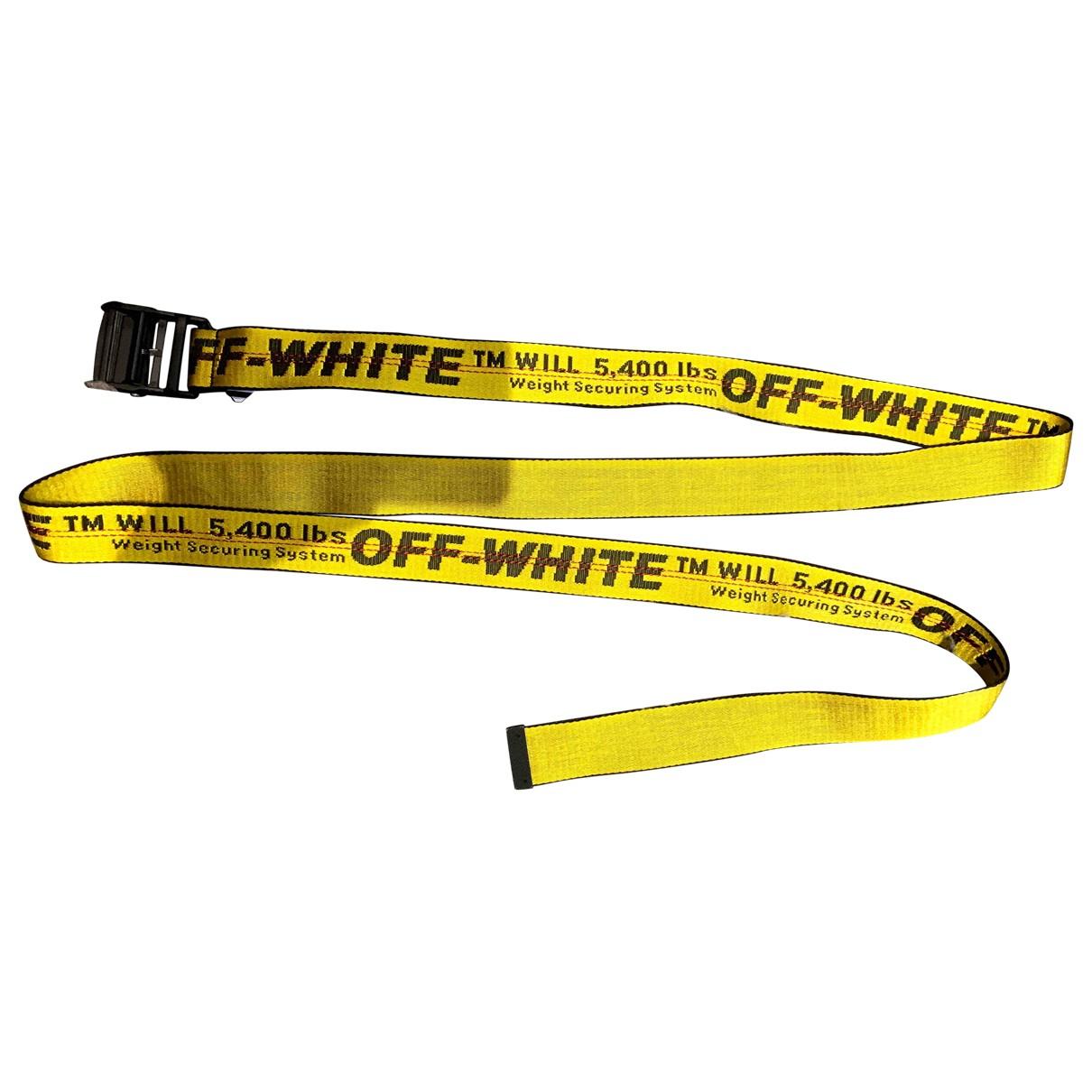 Off-white \N Guertel in  Gelb Polyester