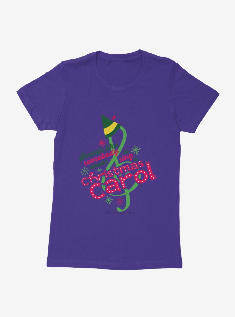 Elf Christmas Carol Womens T-Shirt