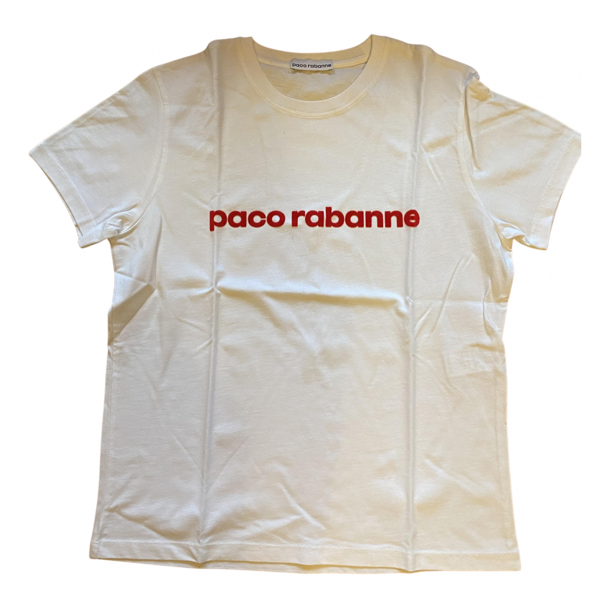 Paco Rabanne N White Cotton  top for Women L International