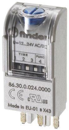 Finder , 110V ac Interface Relay Module, Plug In