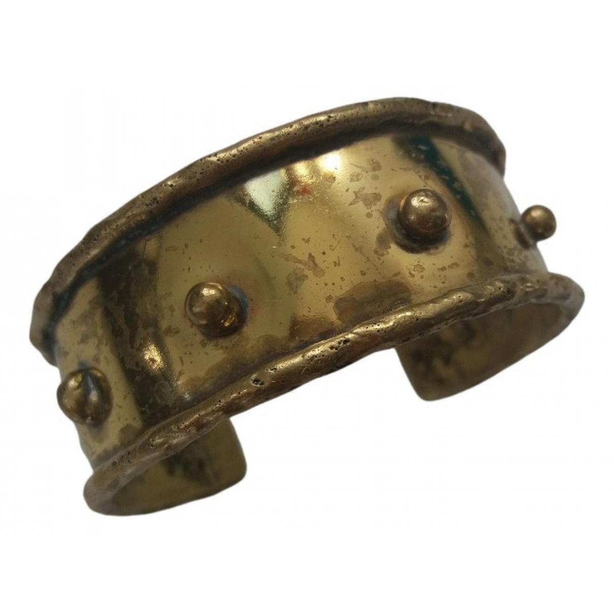 - Bracelet Manchette pour femme en metal - dore