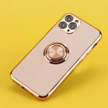 1pc iPhone Case With Ring Holder