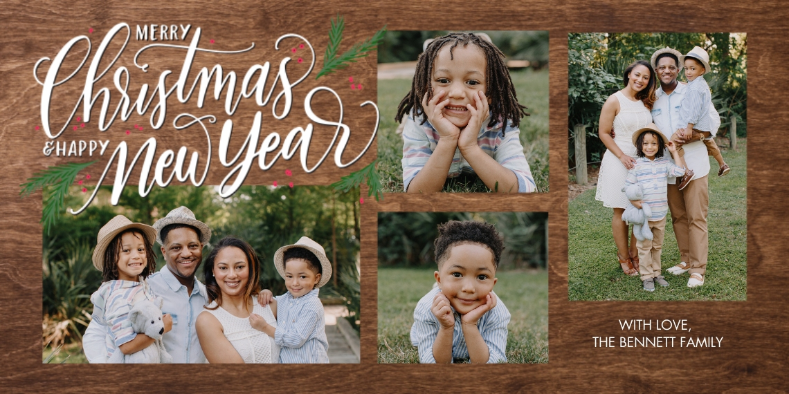 Christmas Photo Cards Flat Glossy Photo Paper Cards with Envelopes, 4x8, Card & Stationery -Christmas New Year Memories by Tumbalina