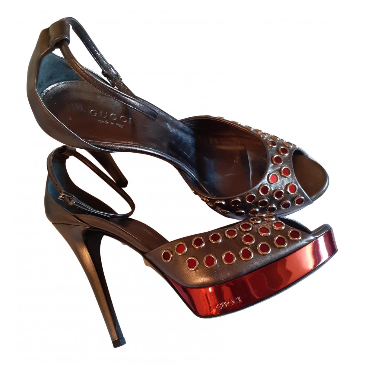 Gucci N Multicolour Patent leather Sandals for Women 38 IT