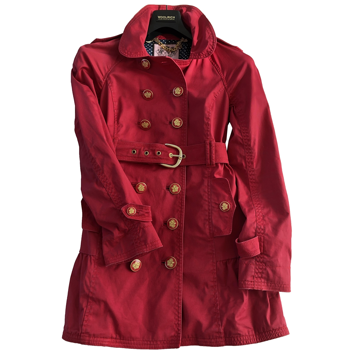 Juicy Couture \N Trench in  Rot Synthetik