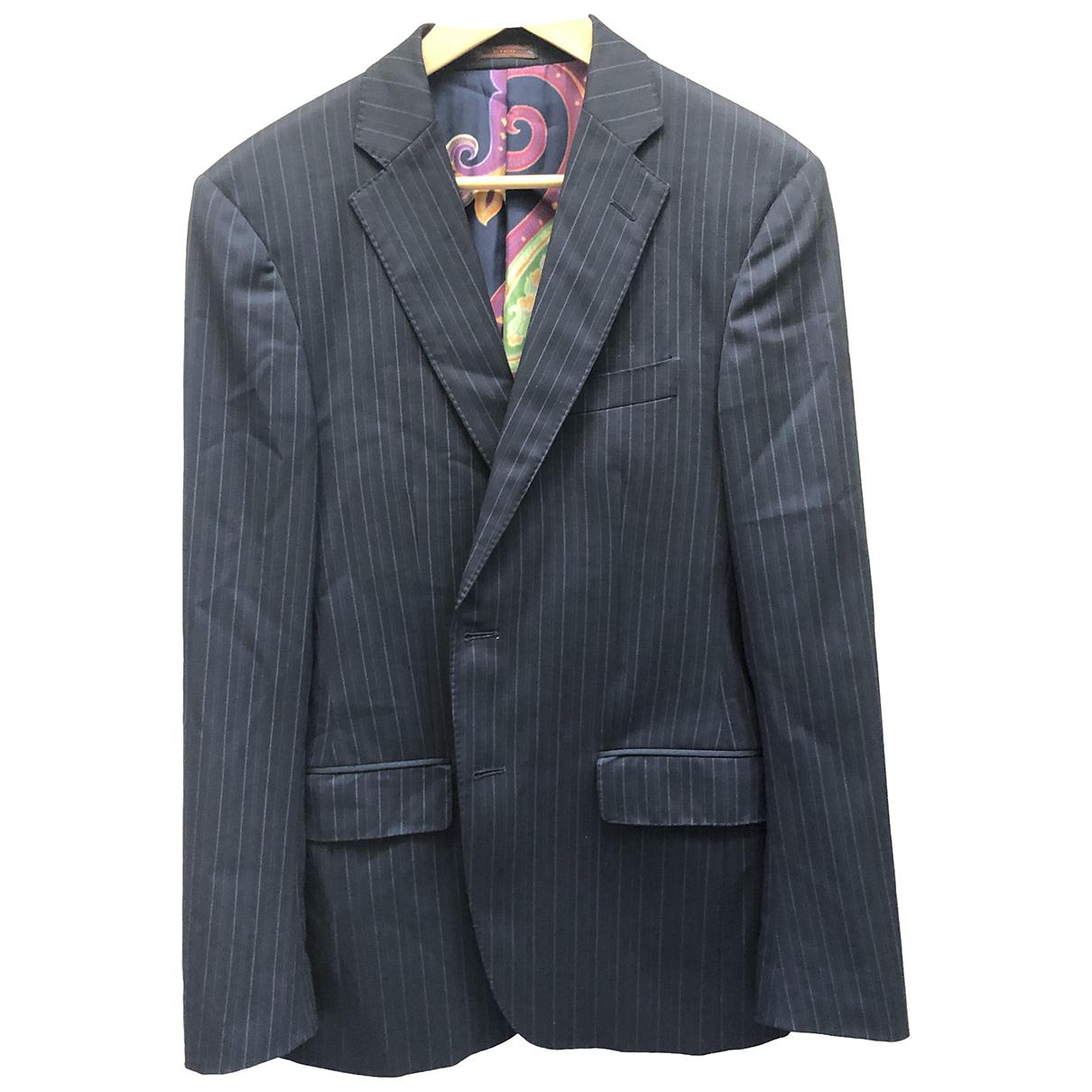 Etro - Costumes   pour homme en laine - noir