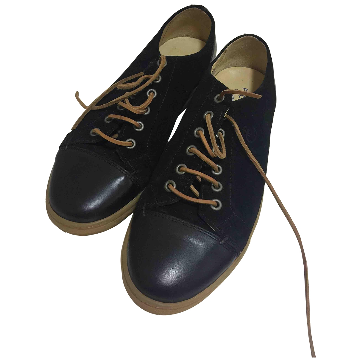 Faconnable \N Black Leather Lace ups for Men 42 EU