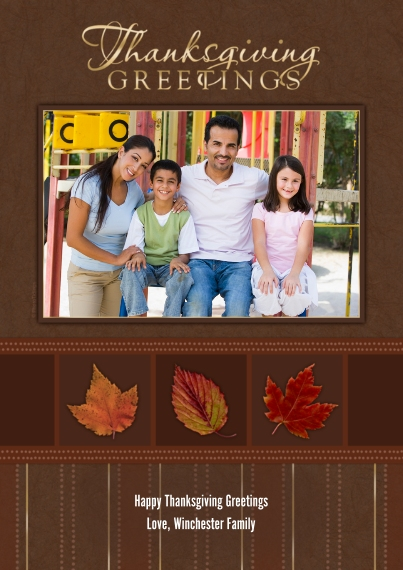 Thanksgiving Photo Cards Mail-for-Me Premium 5x7 Flat Card, Card & Stationery -Thanksgiving Greetings