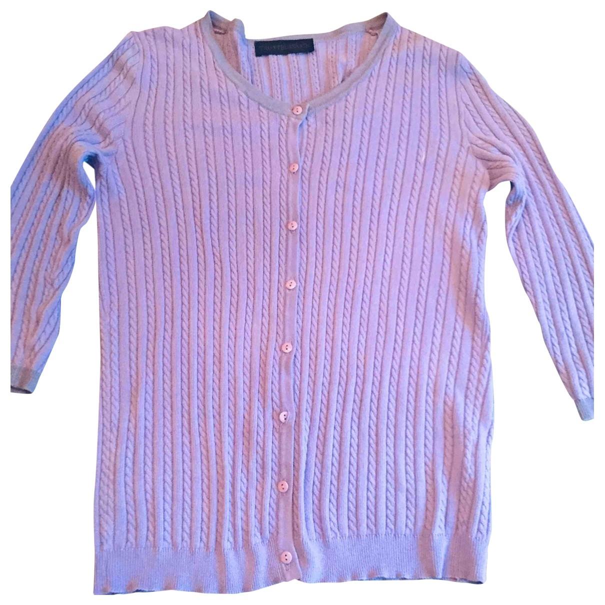 Trussardi N Purple Cotton Knitwear for Women M International