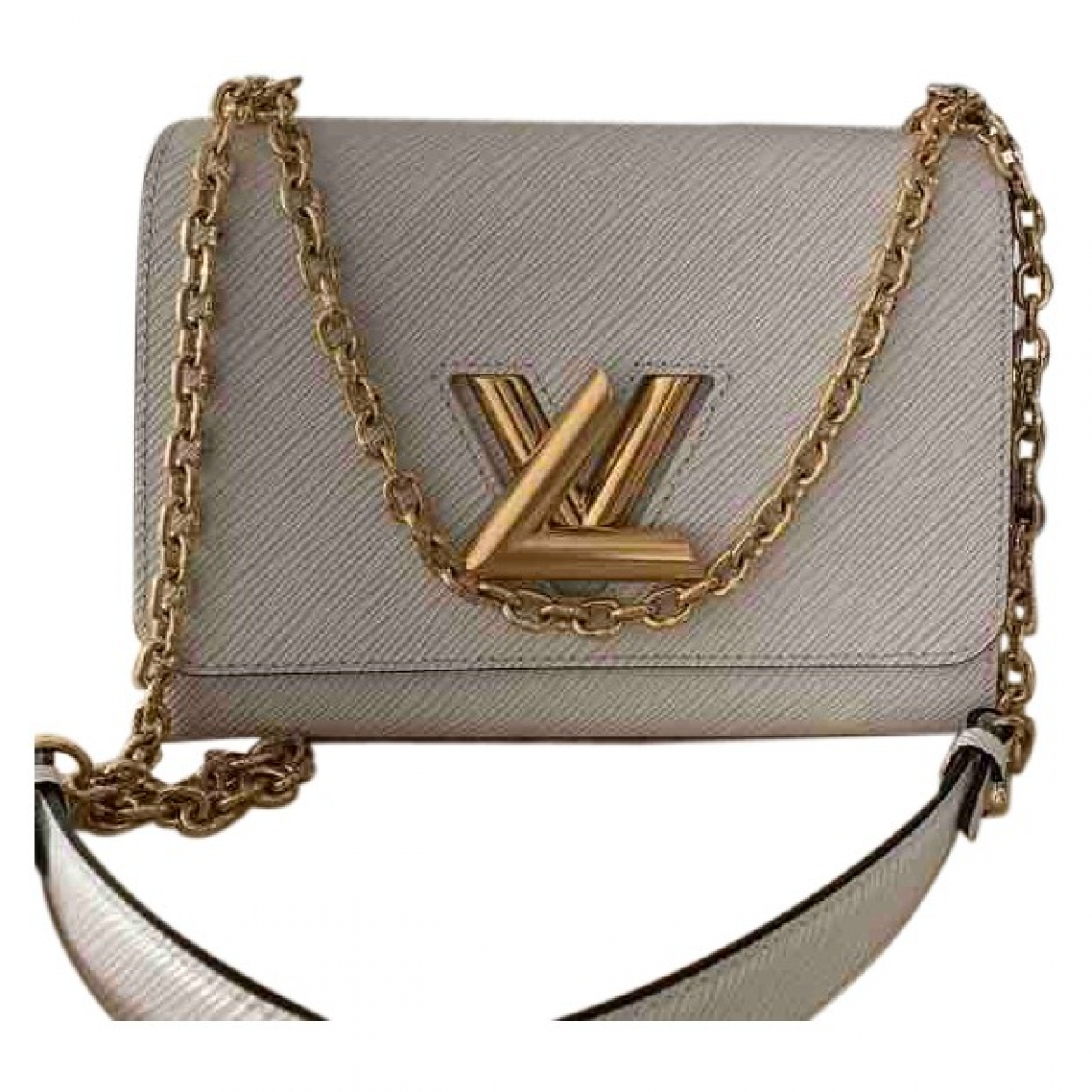 Louis Vuitton - Sac a main Twist pour femme en cuir - ecru