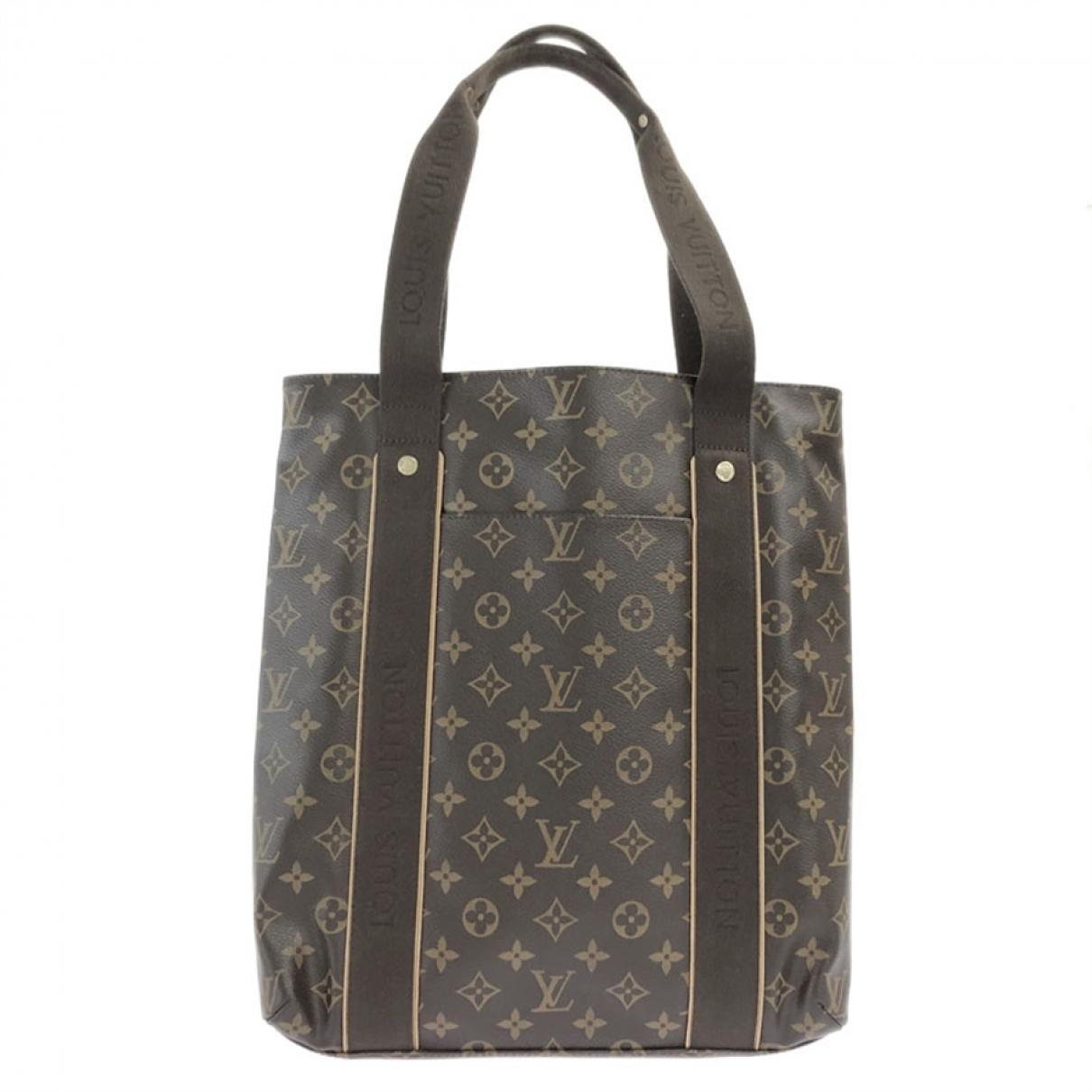 Louis Vuitton Beaubourg Handtasche in  Braun Leinen