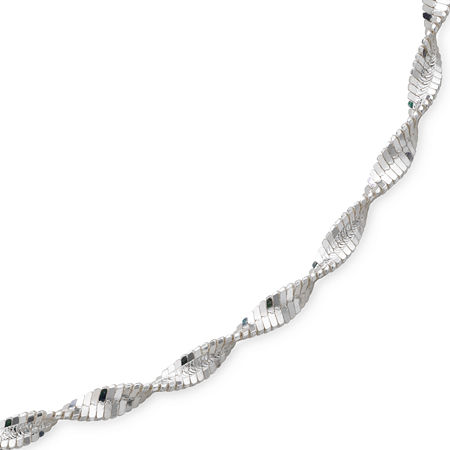 Made in Italy Sterling Silver Solid Herringbone Chain Necklace, One Size , No Color Family