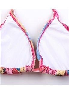 Floral Women Halter Two-Piece Swimwear Bikini Set